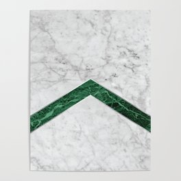 Arrows - White Marble & Green Granite #849 Poster