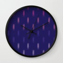 navy rainbow lines Wall Clock