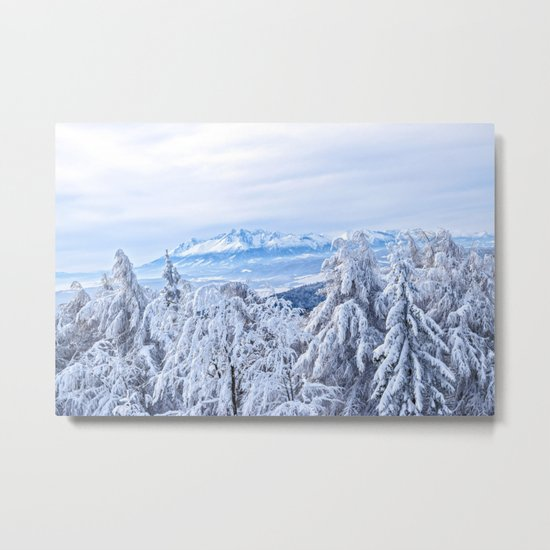 White out #mountains #winter Metal Print
