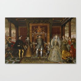 The family of Henry VIII Canvas Print