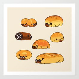 Bread Pugs Art Print