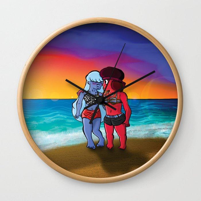 Beach City Babes Wall Clock