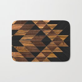 Urban Tribal Pattern 11 - Aztec - Wood Bath Mat