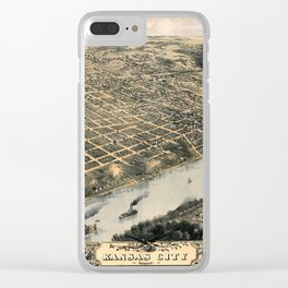 Map Of Kansas City 1869 Clear iPhone Case