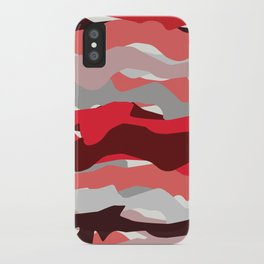 red lines iPhone Case