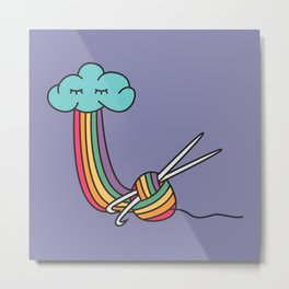 Rainbow Crafter Metal Print