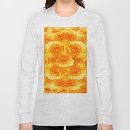 MODERN  GOLDEN ROSES FLOWERS CARPET Long Sleeve T-shirt