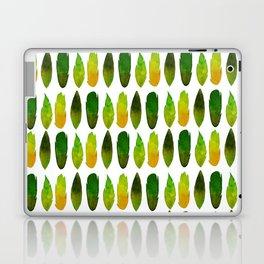 Green-yellow feathers Laptop & iPad Skin