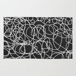 lineas de expresionismo negro Rug