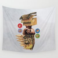 hamburger Wall Tapestries featuring Burger by Lerson