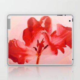 Transparent Red Flower Laptop & iPad Skin