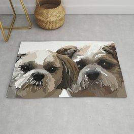 Frankie and Jessie the Shih Tzu dogs Rug