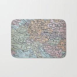 old map of Europe Bath Mat