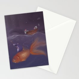 Over Under Water Stationery Cards