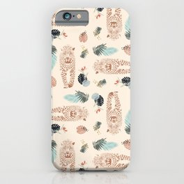 Leopard and Palm wild pattern print by Kristen Baker iPhone Case