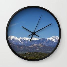 La Plata Mountains, Colorado Wall Clock