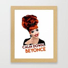 """Calm Down Bey!"" Bianca Del Rio, RuPaul's Drag Race Queen Framed Art Print"
