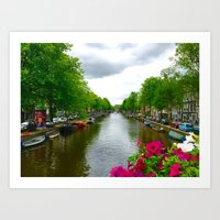 The Canals of Amsterdam   Art Print