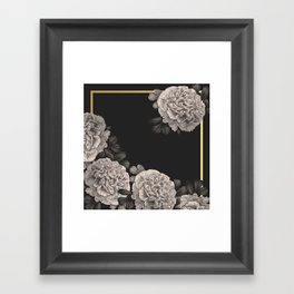 Flowers on a winter night Framed Art Print