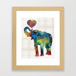 Colorful Elephant Art - Elovephant - By Sharon Cummings Framed Art Print