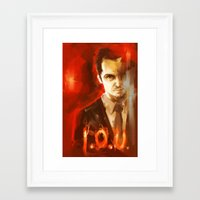 moriarty Framed Art Prints featuring Jim Moriarty by AkiMao