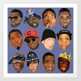 hip hop head Art Print