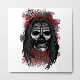 Machete Style Errorface skull Metal Print