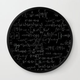 Chalk board mathematics pattern Wall Clock