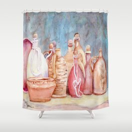 Lithuanian Pottery  WC20150709a Shower Curtain