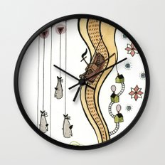 Hanging Whales Wall Clock
