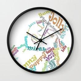 Happy woman III Wall Clock