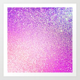 Glitter Shiny Sparkley Art Print