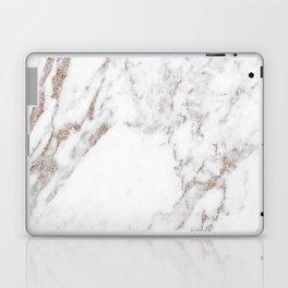 Rose gold shimmer vein marble Laptop & iPad Skin