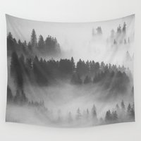 gray Wall Tapestries featuring Everything Turns Gray #society6 by 83 Oranges™