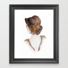 Hair Brooch // Fashion Illustration Framed Art Print
