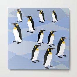 Emporior Penguins Of Antarctica, King Penguins Metal Print