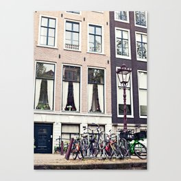 Amsterdam bikes Canvas Print