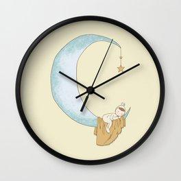 Moon Sleeper 1 Wall Clock