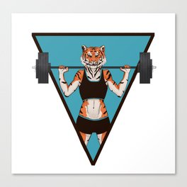 Animal Workouts: Tigress Canvas Print