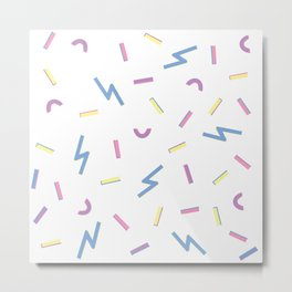 Jazzy Confetti Dance Party Metal Print