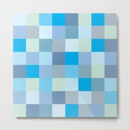 Squares with blue and green shades Metal Print