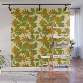 Leaves Camouflage Pattern Wall Mural