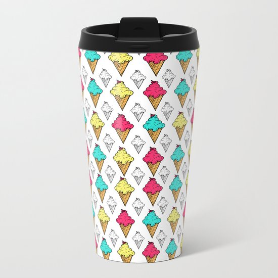 I love ice-cream Metal Travel Mug