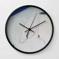 hiking Wall Clocks featuring Hiking by Richard McGee