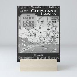 old placard Gippsland Lakes Mini Art Print