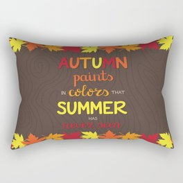 Autumn Paints Rectangular Pillow