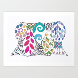 5 fish Art Print