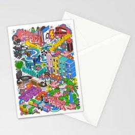 Isometric Map West London – Notting Hill, Holland Park, Shepherds Bush Stationery Cards