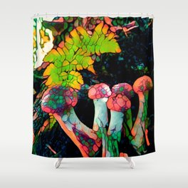 Pebbly Psychedelics Shower Curtain