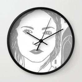 WUTHERING HEIGHTS - LINO (GREY VERSION)  Wall Clock